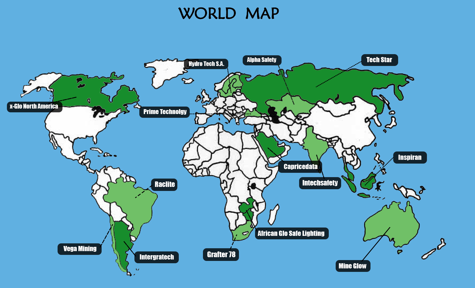 World Map Distrobutors - JPG